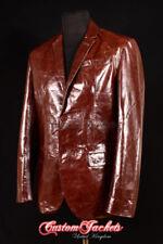 Ropa de hombre marrón de piel