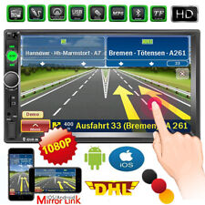 7'' Autoradio Stereo Touchscreen Doppel 2Din Bluetooth MP5 Player AUX FM In-Dash