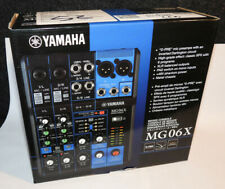 Yamaha Mixer MG06 X 6 Kanal Mischpult / Mixer mit Effekten von Highend-Konsolen