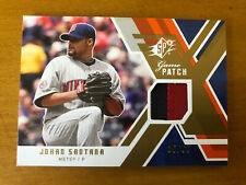 JOHAN SANTANA 2009 SPx Game Patch Jersey #'d 35/99 #GJ-SA TWINS METS
