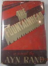THE FOUNTAINHEAD AYN RAND 1943 BOBBS-MERRILL EARLY PRINTING RED BINDING DJ $3