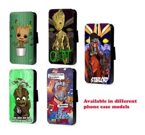 Groot leather phone case Starlord guardians for Huawei Samsung S10