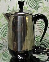 FARBERWARE SUPERFAST COFFEE MAKER PERCOLATOR 8 CUP - MADE IN USA - NICE & CLEAN