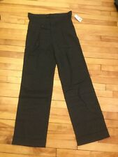 L.A.M.B Gray High Waisted Wide Leg Pleated Trousers Pants, Size 26