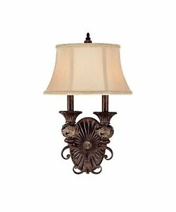 Capital Lighting 1877 Manchester Vanity Wall Sconce Light Chesterfield Brown