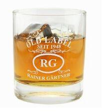 """Whiskeyglas mit Gravur """"Emblem Old Label"""" - mit Personalisierung, Whiskybecher"""