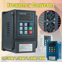 0.75/1.5/2.2/4KW Single To Three Phase VFD Variable Frequency Drive Inverter CNC