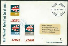 UK - 1971 BEA FLOWN DURING POSTAL STRIKE with BEA Cancel LIMITED EDITION [6955]*