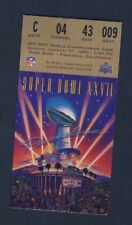 Super Bowl XXVII Ticket 1993 Buffalo Bills vs. Dallas Cowboys Rose Bowl 127433