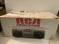 Vintage RCA Digital Boombox CD/AM/FM Cassette RP-7944 Portable With Box, Manual
