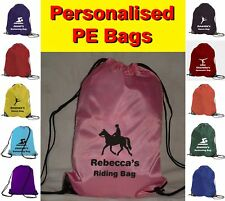 Personalised Horse Riding Logo PE Sports School Gym Bag
