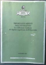 SEMENZATO FRANCO IMPORTANTI DIPINTI DELL' OTTOCENTO D'ARTE MILANO OTTOBRE 1989