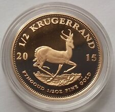 2015 Gold Proof Krugerrand 1/2oz Half Ounce Coin in Capsule.