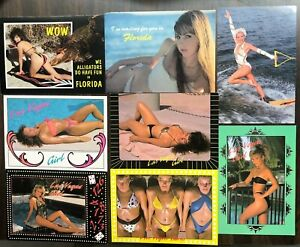 # T2978    PIN UP,  BATHING BEAUTIES    POSTCARD LOT,   8  DIF. CARDS