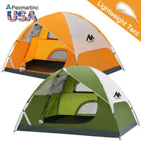 2-3 Person Waterproof Lightweight Double Shelter Camping Tent Backpacking Hiking