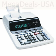 Sharp Vx2652H Two-Color Printing Calculator 12-Digit Fluorescent Black/Red