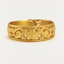 24K Solid Yellow Gold Ring