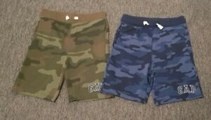 Two pairs of GAP jersey shorts Age 12