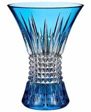 "Waterford Lismore Diamond 8"" Vase Sapphire Cased Crystal #162032 New"