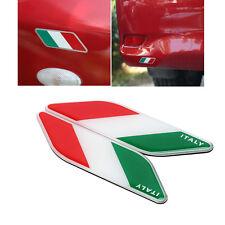 2pc Car Auto 3D Italy Italian Flag Shield Emblem Badge Sticker Universal for BMW