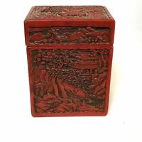 Carved Wooden Ware Lacquered Card Box