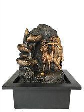 Gold Krishna with Kamdhenu Cow Water Fountain With LED Light - Housewarming Gift