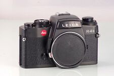 LEITZ LEICA R4 R-4S BLACK BODY MADE IN PORTUGAL CLA SERVICED TESTED R SYSTEM