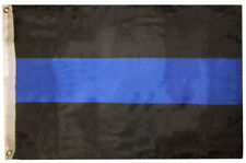 2x3 Police Thin Blue Line Memorial Law Enforcement 2'x3' Premium Polyester Flag