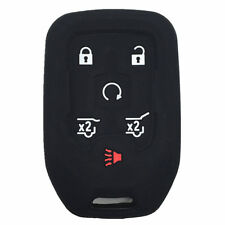 Black Rubber Key Fob Case Cover Keyless Remote fit for GMC S673