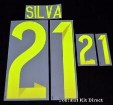 Spain David Silva 21 world cup 2014 Football Shirt Name Set Away Sporting ID