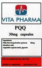 PQQ Pyrroloquinoline quinone 30mg 365 capsules BRAIN HEALTH MENTAL FUNCTION