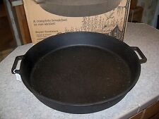 20 inch Bayou Classic Pre Seasoned Cast-Iron Skillet- Favoriate Chefs Pan