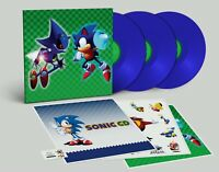 Sonic CD Limited Edition Blue Vinyl Record Soundtrack 3 LP SEGA Brand New Sealed