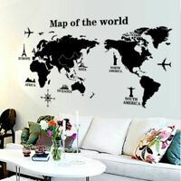 International World Map Vinyl Wall Stickers Creative Art Decals Home Decoration