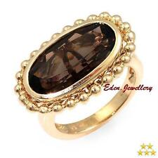 $1439 HIGH QUALITY 5 Star Ring  4.70ct Smoky QUARTZ 14K Gold 6.5g Size 6 80% OFF