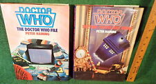 2 LARGE DOCTOR WHO BOOKS by PETER HAINING- TIME TRAVELLERS GUIDE & DR WHO FILE