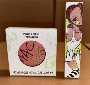 M.A.C Fafi Hipness Powder Blush .21 oz and Sugar Trance Lipglass Lip Gloss .17oz