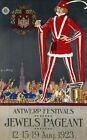 """Vintage Illustrated Travel Poster CANVAS PRINT Belgium Jewels Pageant 24""""X18"""""""
