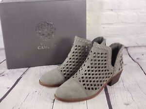 Vince Camuto - Suede Cutout Booties- Phortiena - Greystone - Size 8 M