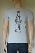 NEW Abercrombie & Fitch Coca-Cola Coke Bottle Vintage Graphic Tee T-Shirt Grey M