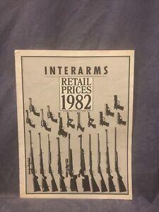 Interarms Retail Prices 1982