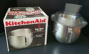 KitchenAid K5ASBP 5 Quart 5 Qt Bowl for Lift Stand Mixer & Pouring Shield