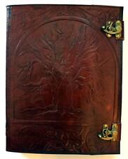 HUGE 10 x 13 Tree of Life Leather Bound Book of Shadows, Journal, Diary!