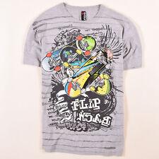 BHS Junge Kinder T-Shirt Shirt Classic Gr.160 Backflip Skateboard Grau, 52034