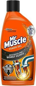 4 Pack of Mr Muscle Max Power Gel Sink & Drain Unblocker 500ml