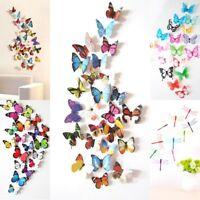 Stickers muraux de Papillons 3D Décorations murales