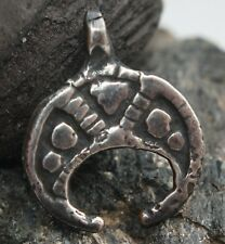 Ancient Solid Silver Neck Pendant Moon-Shaped  ''Lunula'' (JUN)