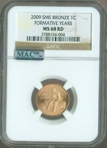 2009 LINCOLN CENT FORMATIVE YEARS NGC MS68 RED SMS MAC SPOTLESS ..