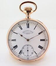 .Antique Patek Philippe Chronometro Gondolo 18k Pink Gold 55mm Pocket Watch