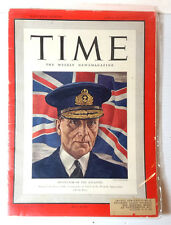 Apr 28, 1941 TIME Magazine- Admiral Percy Noble on Cover-News/Photos/Ad